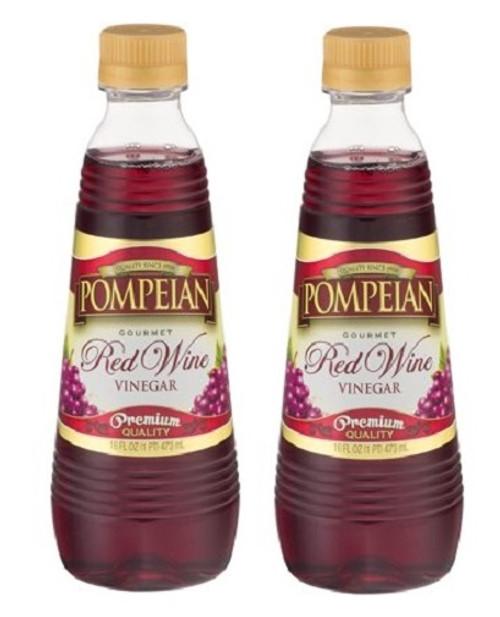 Pompeian Gourmet Red Wine Vinegar Premium Quality 2 Pack