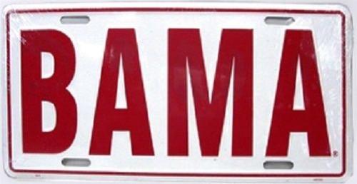 "Alabama Crimson Tide NCAA ""BAMA"" License Plate"