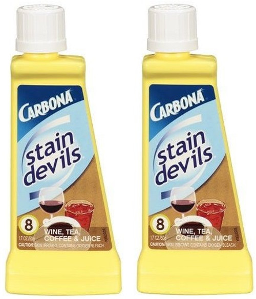 Carbona Stain Devils Wine, Tea, Coffee & Juice Stain Remover 2 Bottle Pack