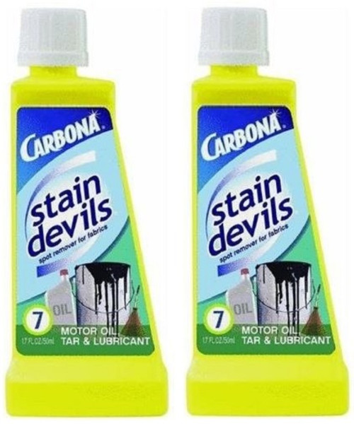 Carbona Stain Devils Motor Oil, Tar, and Lubricant Stain Remover 2 Bottle Pack