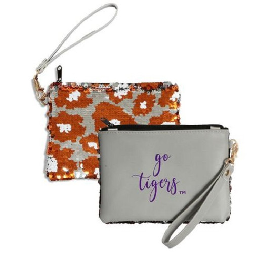 Clemson Tigers NCAA Claire Sequin Clutch