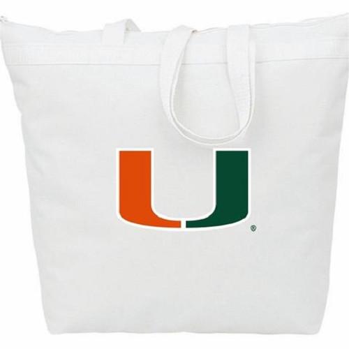 Miami Hurricanes NCAA Zipper Tote Bag