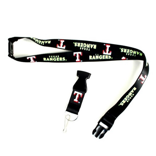 Texas Rangers MLB Black Neon Lanyard