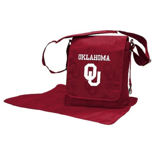 Oklahoma Sooners NCAA LilFan Diaper Messenger Bag