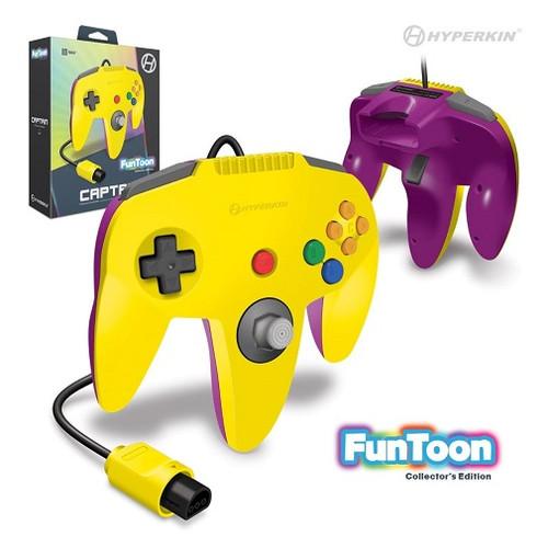 Nintendo 64 Captain Premium Controller For N64 (Rival Yellow) - Hyperkin