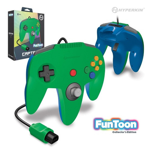 Nintendo 64 Captain Premium Controller For N64 (Hero Green) - Hyperkin