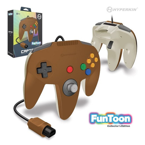 Nintendo 64 Captain Premium Controller For N64 (Hero Brown) - Hyperkin