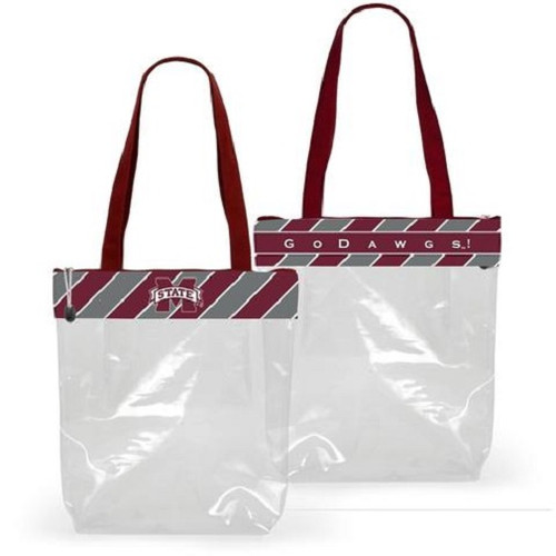 Mississippi State Bulldogs NCAA Clear Fashion Stadium Tote Bag