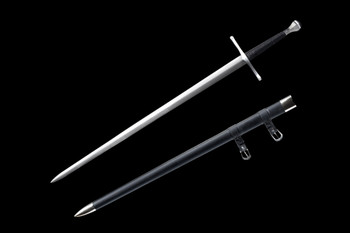 Medieval Long Sword with leather sheath