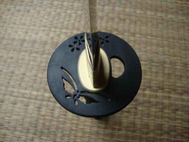 Dojo pro 1060 steel wakizashi #1 with butterfly tsuba