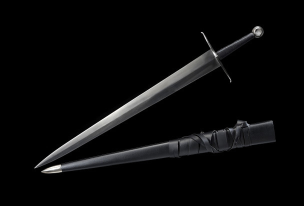 Two handed Medieval War Sword and sheath