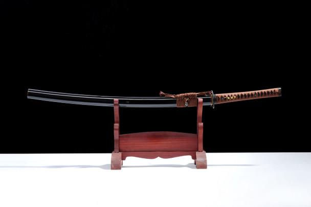 samurai sword on stand