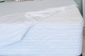 Cooling mattress protector on our Nature's Novel Mattress