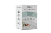 Packaging of the Sweet Zzz cooling mattress protector