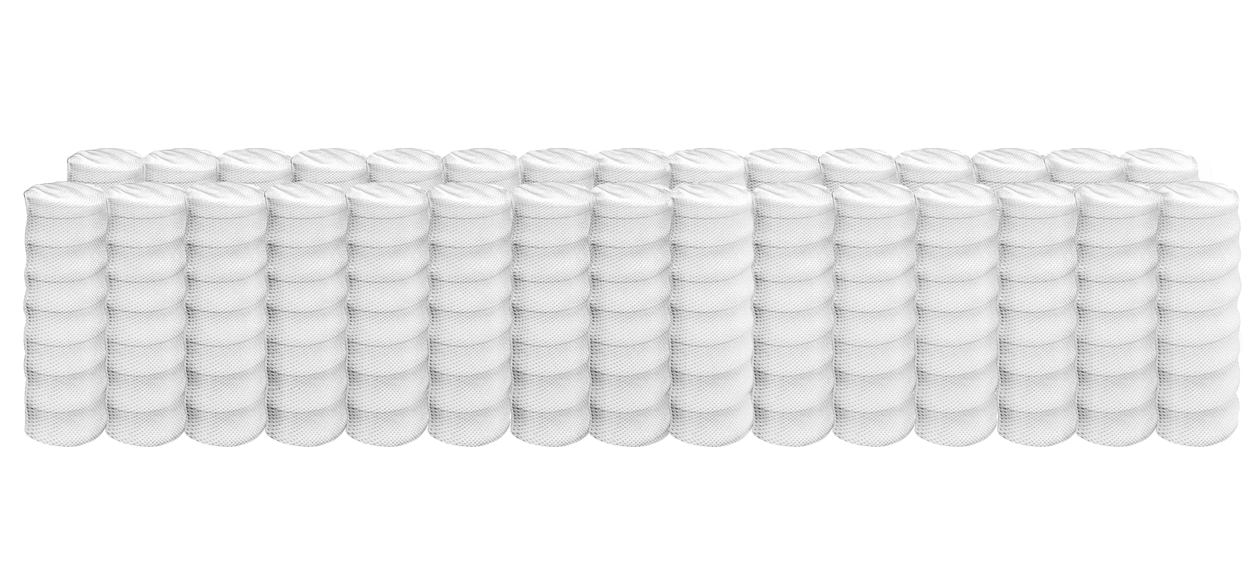 Individual support wrapped coil system