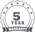Icon of five year warranty