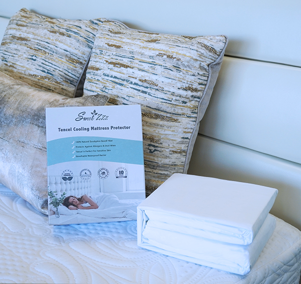 Sweet Zzz cooling mattress protector cover and out of box look