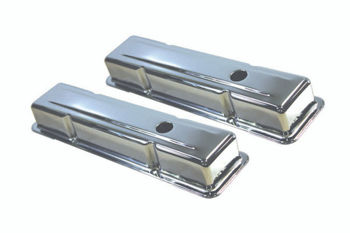 58-86 SBC Steel Short V/C Chrome