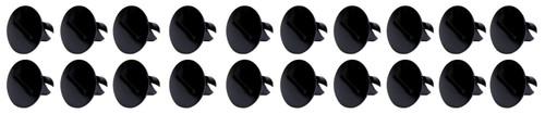 Large Head Dzus Buttons .500 Long 10 Pack Black