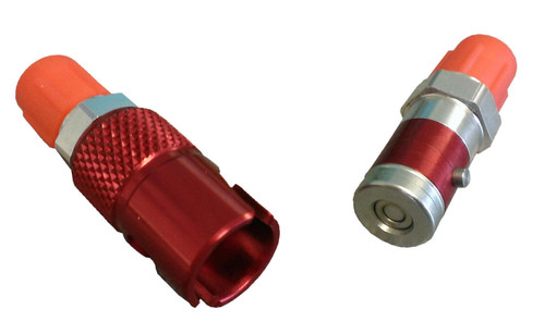 Quick Disconnect Brake Fitting Aluminum Red