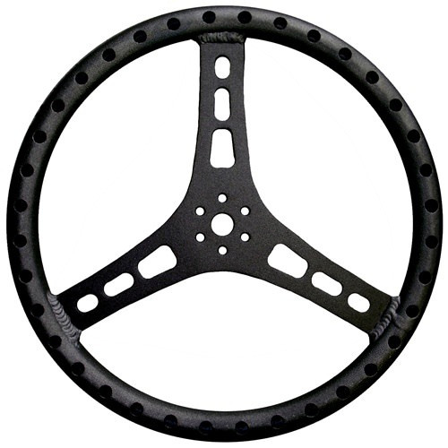 Steering Wheel 15in Dia 1-1/8in Tube Black