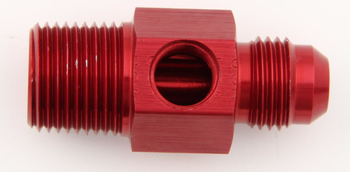 #6 to 1/4 NPT Fuel Press Adapter w/ 1/8 NPT Port