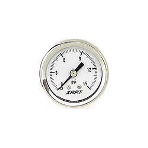 0-15 Fuel Pressure Gauge Liquid Filled
