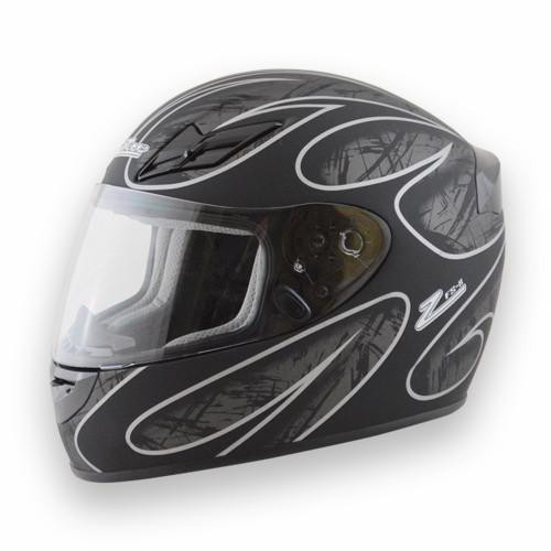 Helmet FS-8  Full Face Silver/Black Large DOT