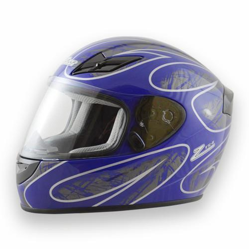 Helmet FS-8  Full Face Blue/Silver Large DOT