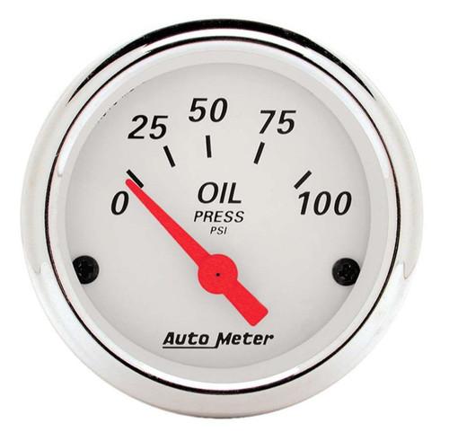 White Oil Pressure 0-100