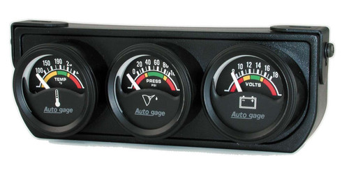 1-1/2in Blk Elec Gauge Panel