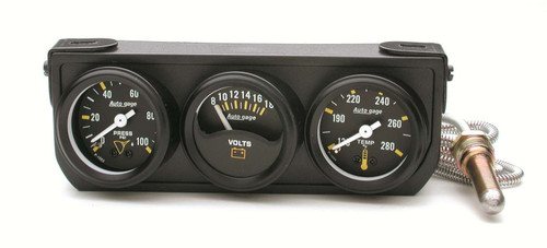 1-1/2in Blk Mech Gauge Panel