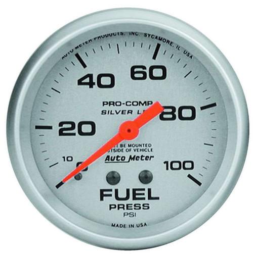 2-5/8in Ultra-Lite 0-100 Fuel Press. Gauge