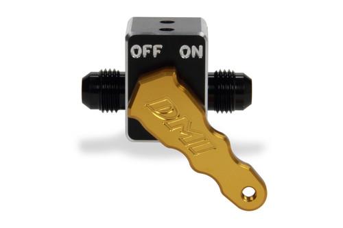 Aluminum Fuel Shut-Off Valve - Gold Handle