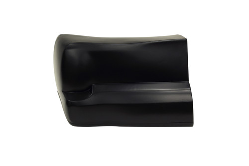 00 M/C Bumper Cover Black Left Side Only
