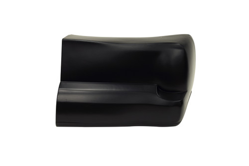 00 M/C Bumper Cover Black Right Side Only