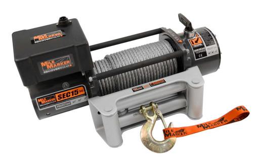 15000lb Winch w/Roller Fairlead & 12' Remote