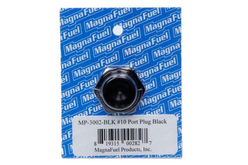 #10 Straight Port Plug Black