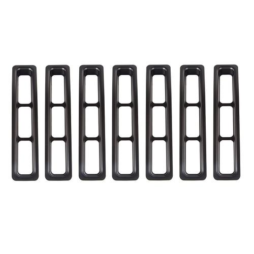 Grille Inserts Black 97- 06 Jeep Wrangler TJ