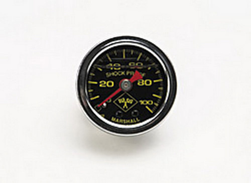 0-100 PSI Fuel Pressure Gauge Blk Face/Chrm Case