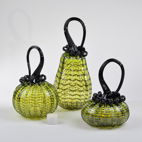 Enchanted Chartreuse Set Wrap Pumpkin with Tealight