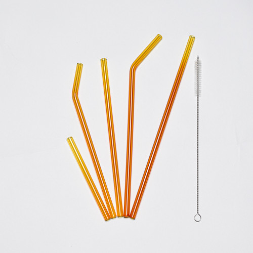 Gold Glass Straws