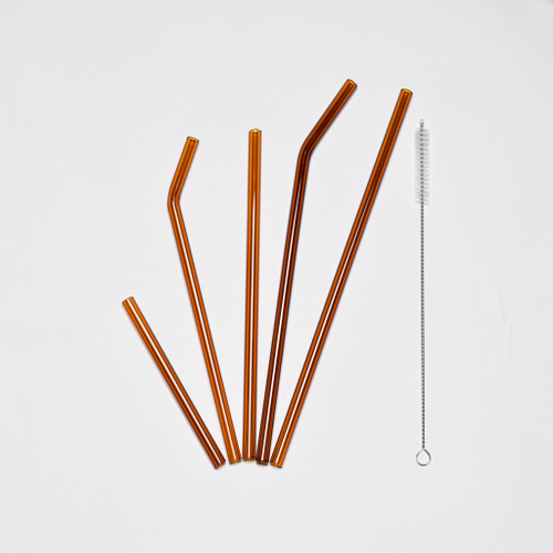 Amber Glass Straws