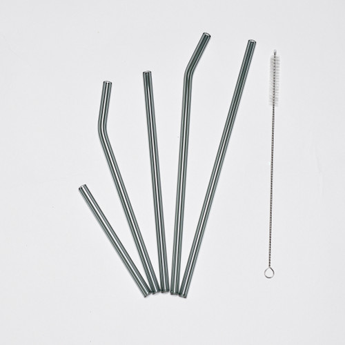 Gray Glass Straws