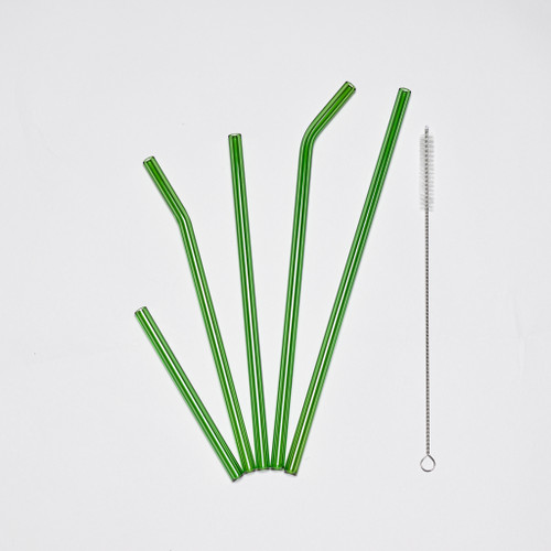 Green Glass Straws