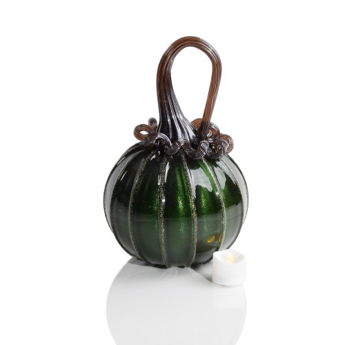 Witches Brew - Signature Round Pumpkin with Tealight
