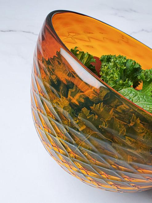 Pineapple Diamond Cut Bowl