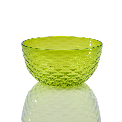 Lime Diamond Cut Bowl