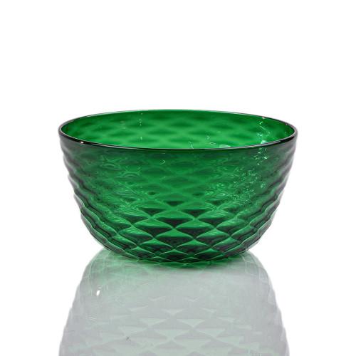 Emerald Diamond Cut Bowl