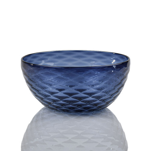 Slate Blue Diamond Cut Bowl